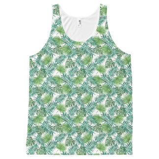 Tropical Palm Branches All Over Print Tank Top