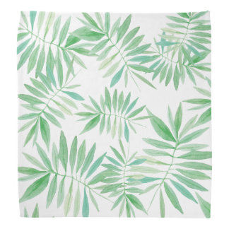 Tropical palm fern storm bandana