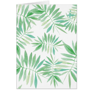 Tropical palm fern storm card
