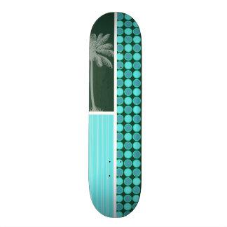 Tropical Palm Green Turquoise Polka Dot Skate Board Decks