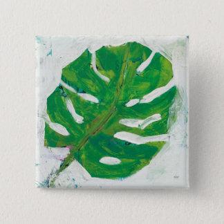 Tropical | Palm Leaf 15 Cm Square Badge