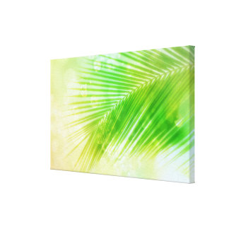 Tropical palm leaf Canvas Print