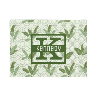 Tropical Palm Leaves | Add Your Name Doormat