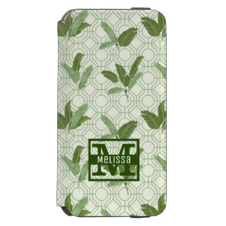 Tropical Palm Leaves | Add Your Name Incipio Watson™ iPhone 6 Wallet Case
