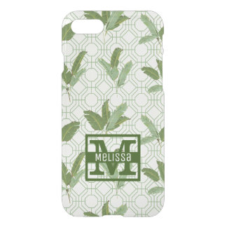 Tropical Palm Leaves   Add Your Name iPhone 7 Case