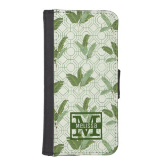 Tropical Palm Leaves | Add Your Name iPhone SE/5/5s Wallet Case