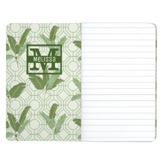 Tropical Palm Leaves | Add Your Name Journal