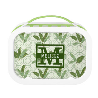 Tropical Palm Leaves | Add Your Name Lunch Box