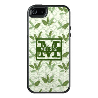 Tropical Palm Leaves | Add Your Name OtterBox iPhone 5/5s/SE Case