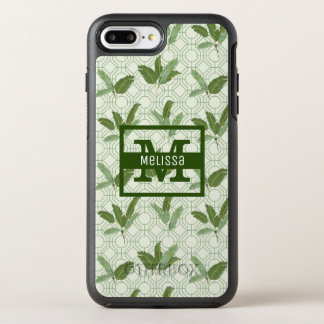 Tropical Palm Leaves | Add Your Name OtterBox Symmetry iPhone 8 Plus/7 Plus Case