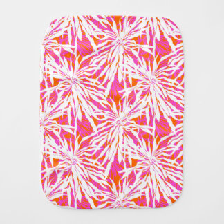 Tropical Palm Leaves Baby Burp Cloth