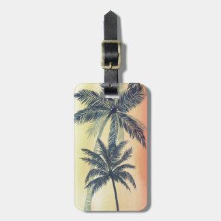 Tropical Palm Leaves Bag Tag