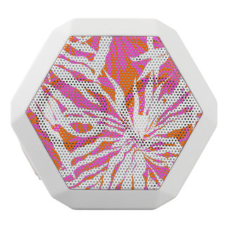Tropical Palm Leaves White Boombot Rex Bluetooth Speaker
