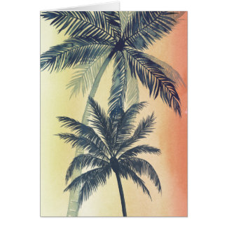 Tropical Palm Leaves Card