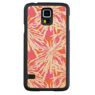Tropical Palm Leaves Carved Maple Galaxy S5 Case