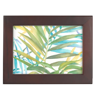 Tropical Palm Leaves Keepsake Box