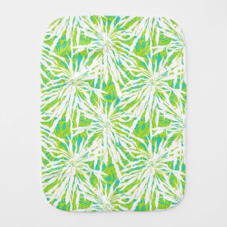Tropical Palm Leaves Pattern Baby Burp Cloth