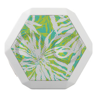 Tropical Palm Leaves Pattern White Boombot Rex Bluetooth Speaker