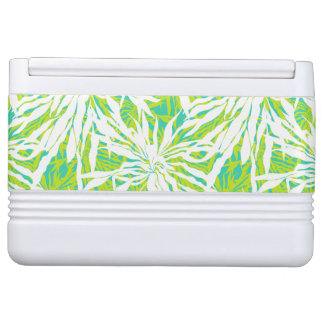 Tropical Palm Leaves Pattern Igloo Cooler