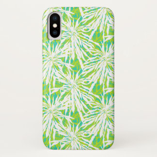Tropical Palm Leaves Pattern iPhone X Case