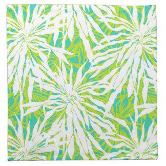 Tropical Palm Leaves Pattern Napkin
