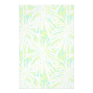 Tropical Palm Leaves Pattern Stationery
