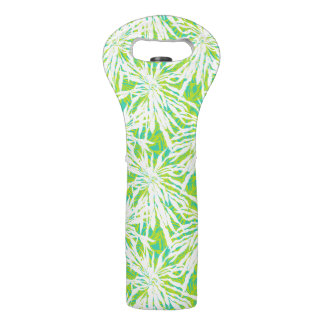 Tropical Palm Leaves Pattern Wine Bag