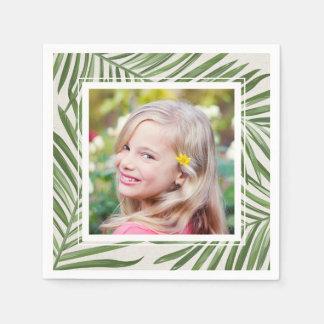 Tropical Palm Leaves   Photo Paper Serviettes