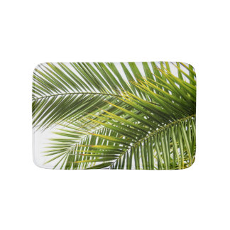 Tropical palm leaves photo summer florida paradise bath mats