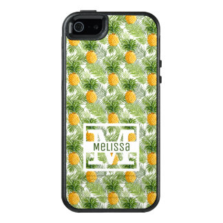 Tropical Palm Leaves & Pineapples | Add Your Name OtterBox iPhone 5/5s/SE Case