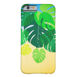Tropical Palm Leaves Sandy Shore Barely There iPhone 6 Case
