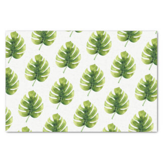 Tropical Palm Leaves Tissue Paper