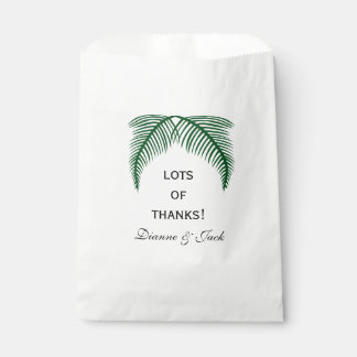 Tropical Palm Leaves Wedding Favour Bags