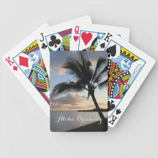 Tropical Palm Ocean Aloha Dreaming Bicycle Playing Cards
