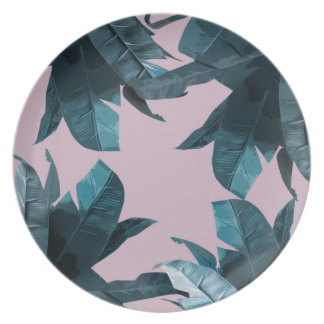 Tropical Palm Print 2 Melamine Plate