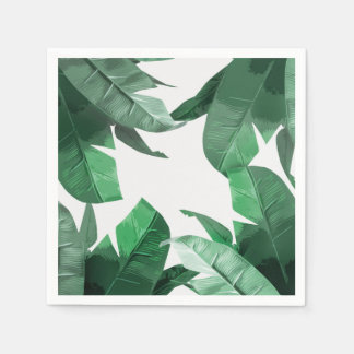 Tropical palm print napkins paper serviettes