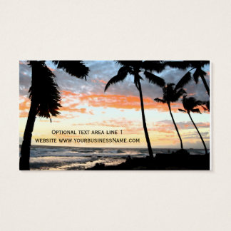 Tropical Palm Tree Beach Real Estate Business Card
