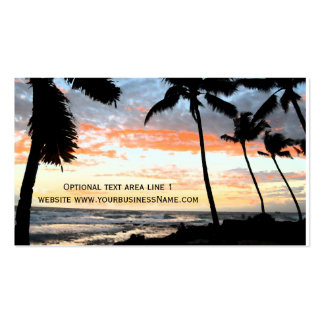 Tropical Palm Tree Beach Real Estate Pack Of Standard Business Cards