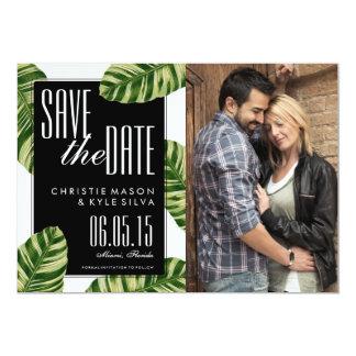 Tropical Palm Tree Beach Wedding Save the Date 13 Cm X 18 Cm Invitation Card