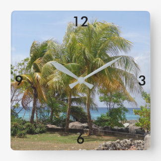 Tropical Palm Tree Clock