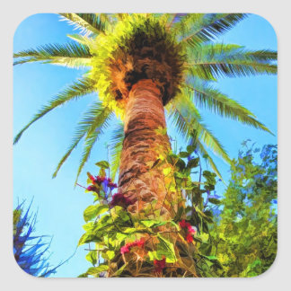 Tropical Palm Tree In Summer Sticker