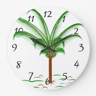 Tropical Palm Tree Large Clock