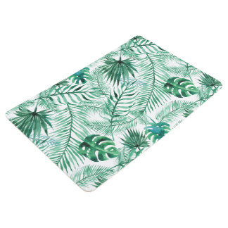 Tropical Palm Tree Leaves Pattern Floor Mat