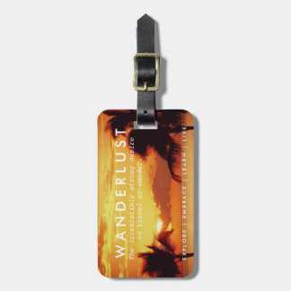 Tropical Palm Tree Paradise Wanderlust Definition Bag Tag