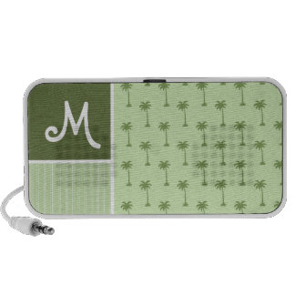 Tropical Palm Tree Pattern iPod Speakers