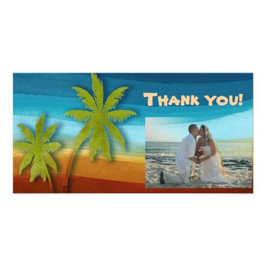 Tropical Palm Tree Photo Card