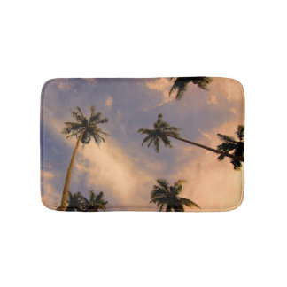Tropical palm tree photo summer paradise hawaii bath mats