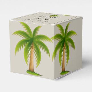 Tropical Palm Tree Wedding Favour Box