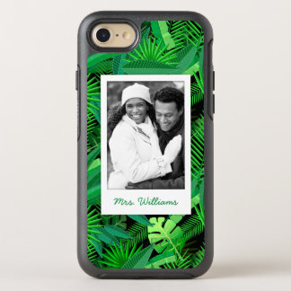 Tropical Palm Trees | Add Your Photo & Name OtterBox Symmetry iPhone 8/7 Case