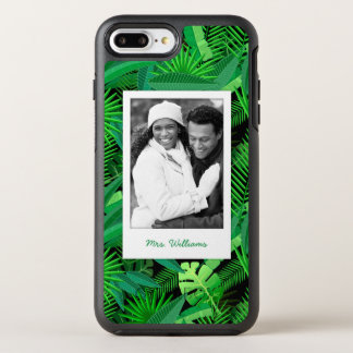 Tropical Palm Trees | Add Your Photo & Name OtterBox Symmetry iPhone 8 Plus/7 Plus Case